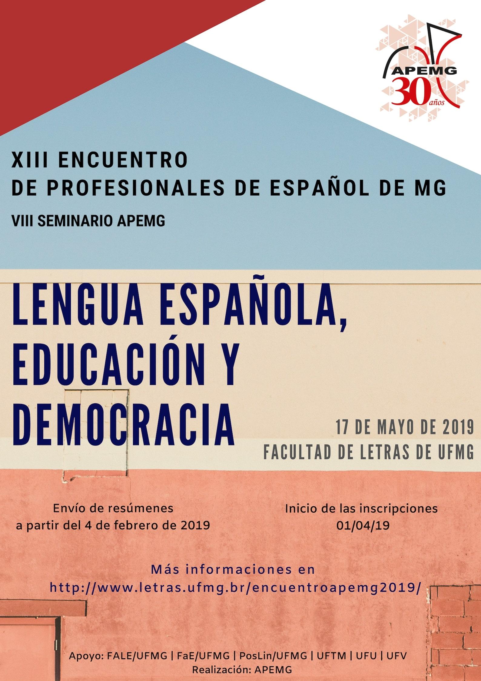 XIII Encuentro de Profesionales de Español de MG VIII Seminario APEMG