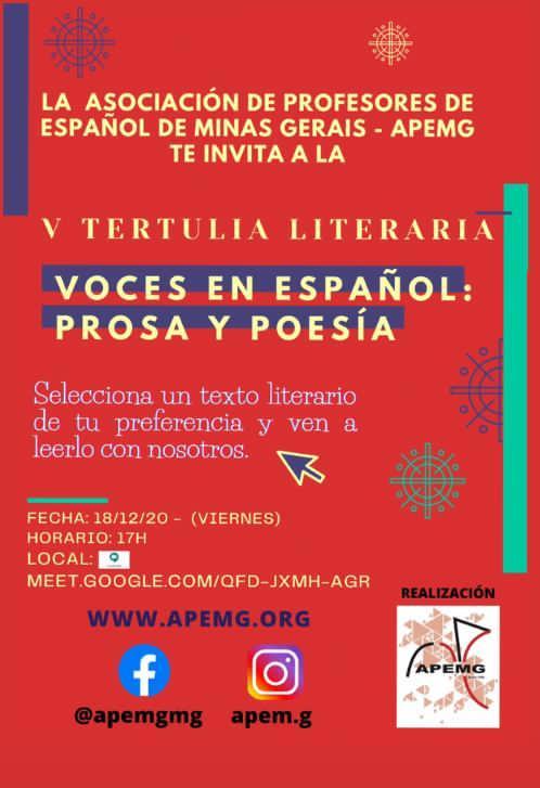 V Tertulia Literaria APEMG